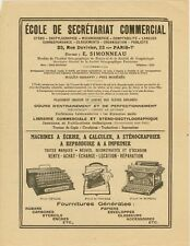 c1910-20 France typewriter advertising flyer