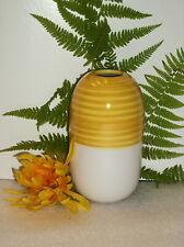 IKEA KNAPRIG Stoneware BEEHIVE Cylinder Vase #21880 NEW Yellow White