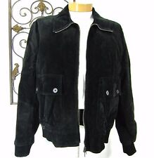 BURBERRY LONDON made in Italy suede full zip jacket size 56 EU solid black