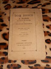DOM BOSCO A PARIS - Sa vie et ses oeuvres - Ressayre, 1883