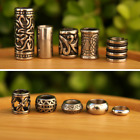 Set of 10 Stainless Steel 5mm/7mm Hole (3/16 - 9/32 Inch) Dreadlock Beads Viking