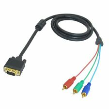 1.5M 4.9ft VGA a 15 pin maschio a 3 RCA RGB maschio video cavo adattatore F1K0