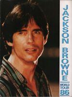 JACKSON BROWNE 1986 LIVES IN THE BALANCE TOUR CONCERT PROGRAM BOOK / EX 2 NMT