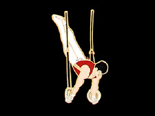 Men's Rings Gymnastics Lapel Pin - Creative Cutout Design