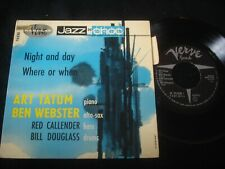 "ART TATUM/BEN WEBSTER/NIGHT AND DAY/VERVE/JAZZ/FRENCH PRESS 7"" SP"