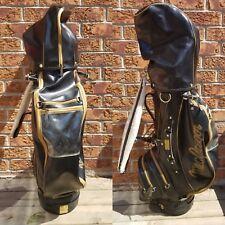 MacGregor Vintage Black & Gold Leather Staff Golf Bag