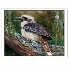 © ART - kookaburra in an old gum tree Original wildlife Bird Artist Print by Di