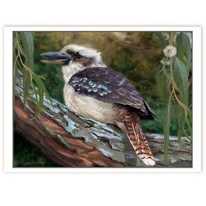 © ART - kookaburra in an old gum tree Original wildlife Bird Artist Print by Di