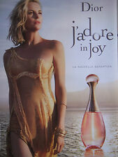 PUBLICITÉ DE PRESSE PARFUM DIOR J'ADORE IN JOY NOUVELLE SENSATION - ADVERTISING