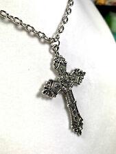 Unique Metal Gothic Cross Necklace