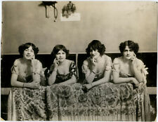 Gorgeous Original 1910s Large Format Photograph Sultry Theatre Cabaret Dancers