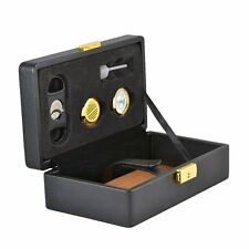 Ignis Cigar Humidor Genuine Leather Travel Humidor Includes Accessories