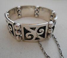 Heavy Mexico Pedro Romero Taxco  Sterling Silver Link Bracelet   249.058