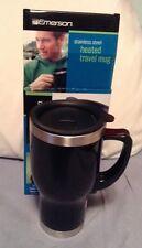 Emerson 14 fl oz. Stainless Steel Heated Travel Mug 12V Auto Power Adapter