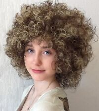 BROWN & BLONDE CURLY FEMALE BEAUTIFUL FANCY DRESS WIG. UK DISPATCH