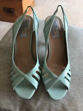 Ladies Bertie Size 5 (38) Sandals Pale Green Patent Pre Owned