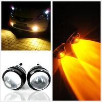 1 Pair CREE LED Hawkeye Daytime Driving Running Light DRL Car Fog Lamp Headlight