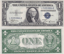 1935-B $1 SILVER CERTIFICATE ✪ CHOICE UNCIRCULATED ✪ CONSECUTIVE L@@K ◢TRUSTED◣