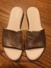 Cole Haan Grand.OS Womens Anica Slide On Sandals Gold Metallic Size 7.5