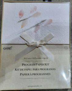 Gartner Studios 50 Count DIY Printable Programs Paper Kit w/Ribbons
