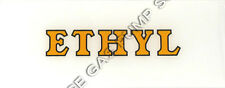 Ethyl Yellow with Black Outline Flat Ad Glass (AG405)