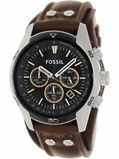 Fossil Men's Coachman CH2891 Brown Leather Quartz Fashion Watch
