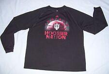 Indiana Hoosiers Basketball Adidas Climalite L/S Shirt Team Issue Black Men's XL