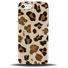 Golden Leopard Print Pattern Phone Case Cover | Marks Printed Glitter Gold B325