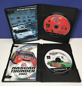 Grand Turismo 3 A-Spec & Nascar Thunder 2002 (Sony Playstation 2) DISCS MANUALS