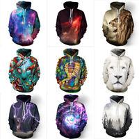 Unisex Galaxy Space 3D Print Jumper Sweatshirt Casual Hoodie Pullover Outwear