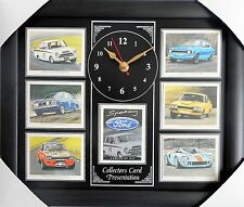 Sporting Fords Stunning Collector Cards Wall Clock Escort/Cortina
