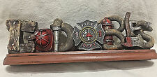 God Bless Firefighter Table Top or Mantle  Plaque (RA1062) Fire Department FD