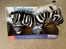 "PLUSH LARGE ZEBRA 16"" DISCOVERY CHANNEL Endangered Species Series Stuffed Toy"