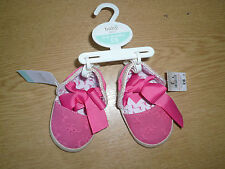 BNWT M & Co Girls Sandals/Pram Shoes ~Age 0-6 months ~ Espadrille Style