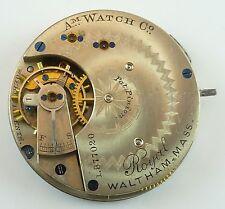 Waltham Grade Royal Running Pocket Watch Movement  Spare Parts / Repair