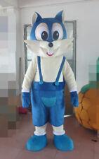 Christmas Blue Cat Mascot Adult Costumes Unisex Cartoon Animal Parade Suit Dress