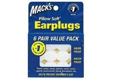 Macks MACK'S #7 Pillow soft earplugs learn to swim special needs 7yrs & up 6prs
