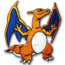 Charizard Dragon Lizardon Patch Iron On Pokemon Cartoon Poke Ball Sew Badge Kids