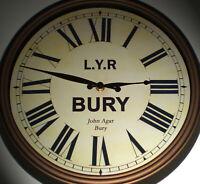 Lancashire & Yorkshire Railway LYR Victorian Style Clock, Bury Station