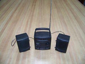 Lifelong® Mini AM/FM Radio W/LCD Clock Model 8157