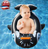 Black Baby shark baby toddler kids Swimming inflatable pool float ring tube Toy