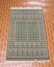 3'x5' Green Color Hand Knotted Home Décor Wool Rugs Floor Mat Oriental Carpet