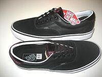 Vans Era 59 Mens Velvet Black Purple White Leather Skate Boat shoes size 11 NWT