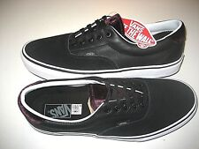 d2c53e1d16c899 Vans Era 59 Mens Velvet Black Purple White Leather Skate Boat shoes size 11  NWT