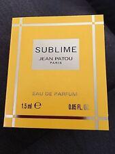 New JEAN PATOU SUBLIME Eau de Parfum .05fl.oz/1.5 ml SAMPLE New & Carded