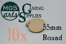 10x 55mm Round Laser Cut MDF Miniature Bases FREE US SHIPPING!!