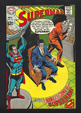 SUPERMAN #211  VERY FINE+ 8.5!   COOL COVER!  1968
