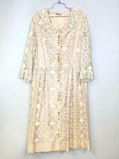 VTG Plenty Shop 1960s Vintage Lane Bryant Ivory Lace Dress 44-34-FREE XL Plus