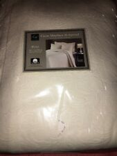 LaMont Home Claire Matelasse Full Bedspread And Euro Sham, Ivory