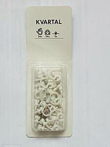 24x IKEA Kvartal Replacement Parts New In Box Hooks Gliders Screws 701.886.83 #1